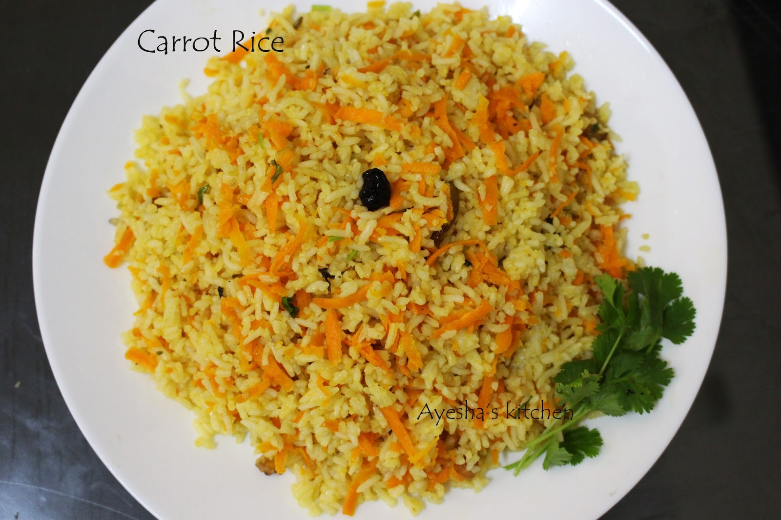 Here Is The Recipe Showing How To Make Carrot Rice Easy Lunch Box Recipes
