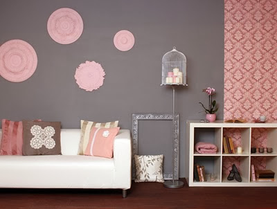 red and grey living room walls cosy zone pink amp gray 26040