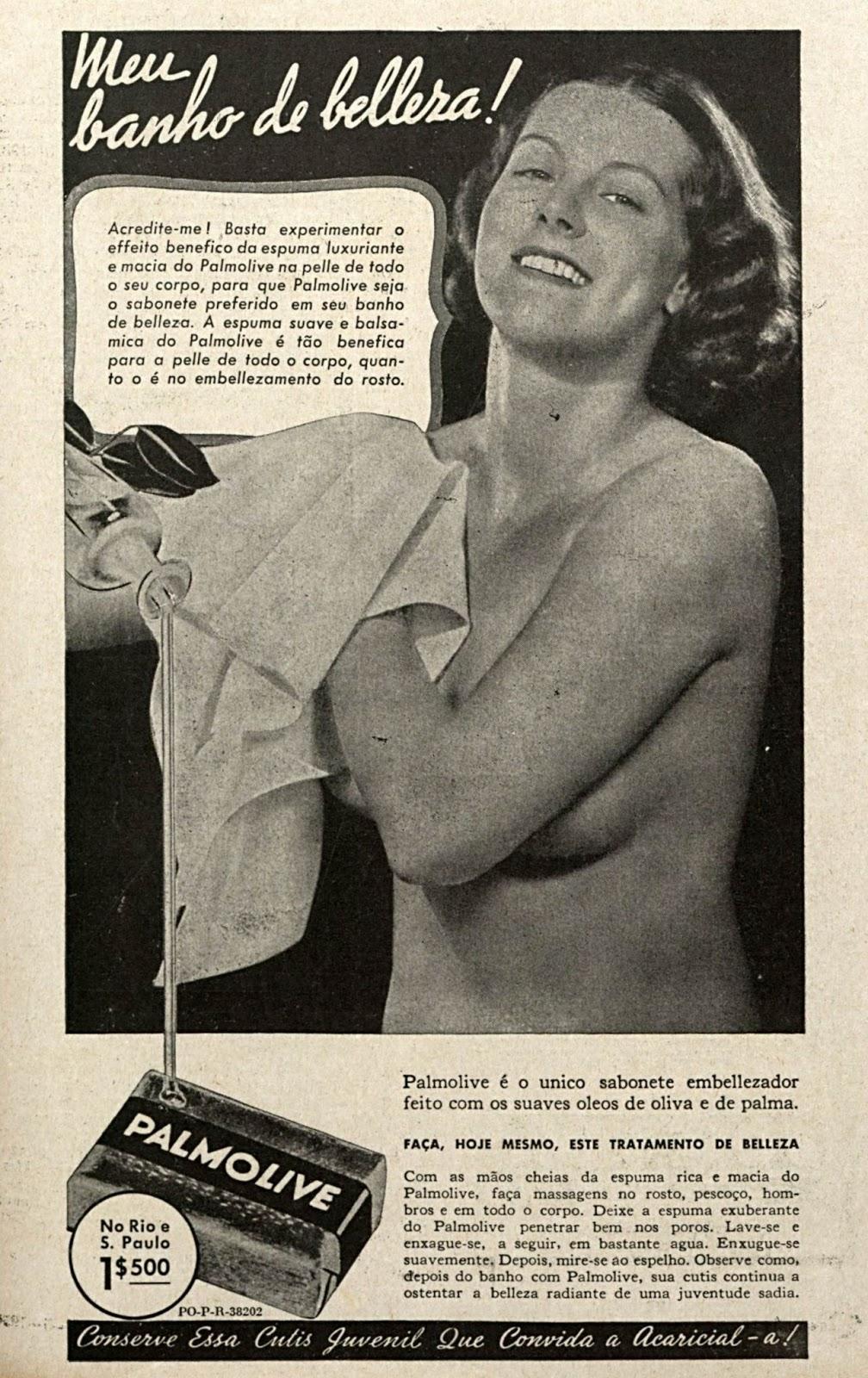 Propaganda antiga do Sabonete Palmolive em 1938