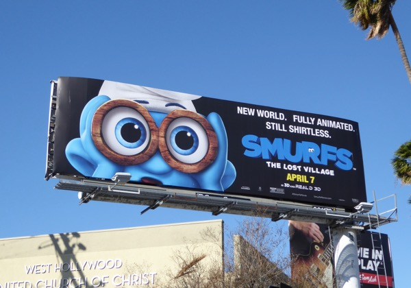 Smurfs Lost Village movie billboard