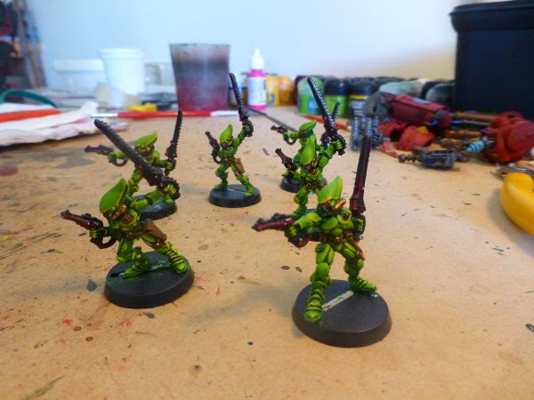 40k eldar scorpions ready for painting 2