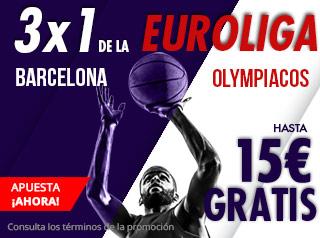 suertia promocion Barcelona vs Olympiacos 18 diciembre