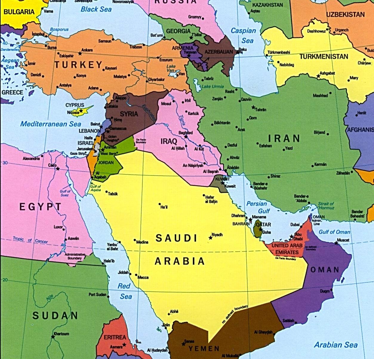 Cartina Mondo islamico