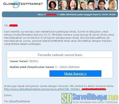 Undangan survey online GlobalTestMarket dengan skema LifePoints | SurveiDibayar.com