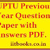 UPSEE/UPTU Previous Year Question Papers free PDF Download