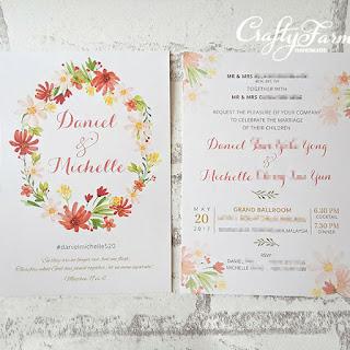 Wedding card malaysia crafty farms handmade cards gallery flat card series stopboris Choice Image