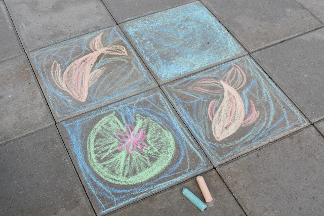 sidewalk chalk, summer, savor summer, fun, play, Anne Butera, My Giant Strawberry, #ssjuly2015