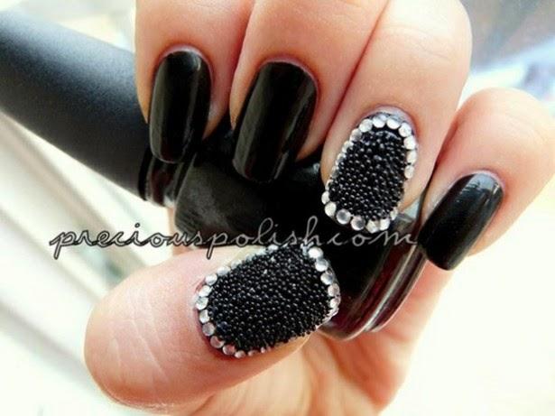 Imagenes de uñas bordadas - fotos con lindos decorados de uñas - lindas y hermosas - elegancia y glamour