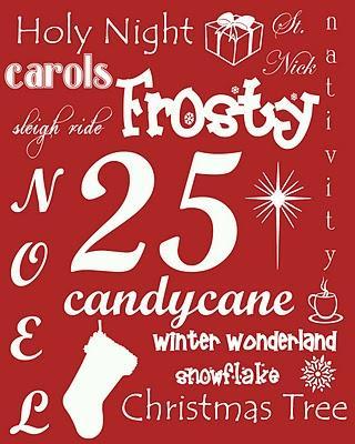 Christmas Subway Art Free Printable.Free Christmas Printables And Gift Ideas Making Memories