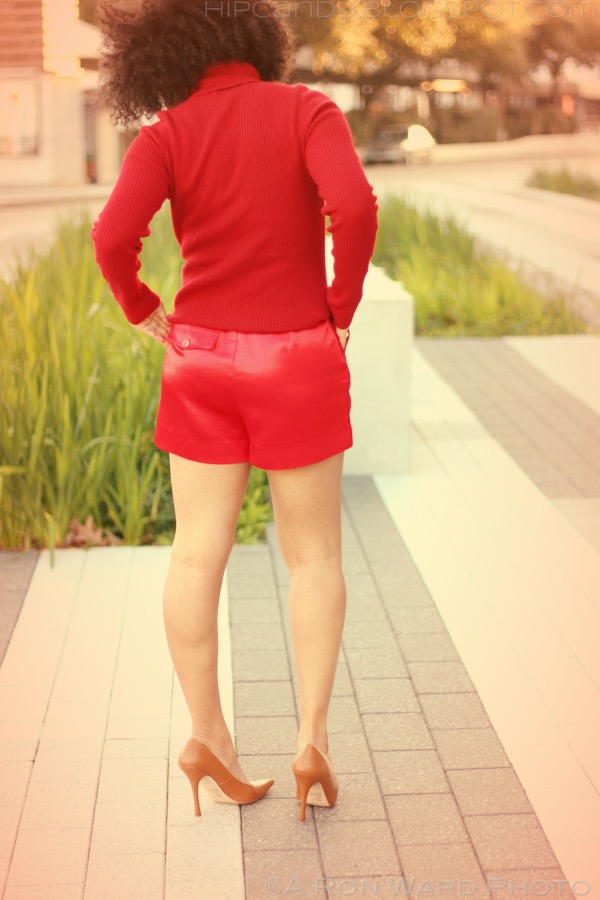 fashion sewing diystyle red shorts