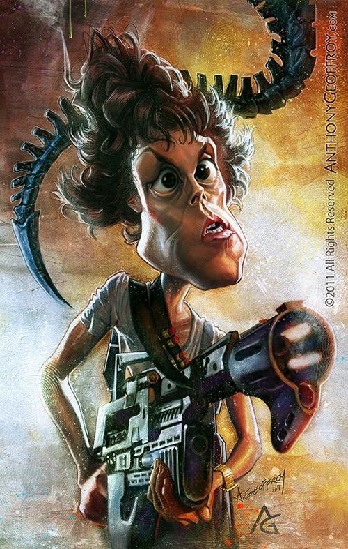 Sigourney Weaver por Anthony Geoffroy