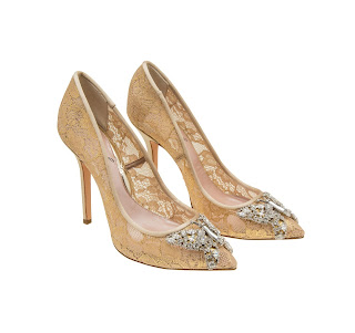 Aruna Seth Farfalla Lace High Heeled Pumps