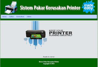Sistem Pakar Diagnosa Kerusakan Printer