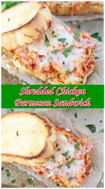 Shredded Chicken Parmesan Sandwich
