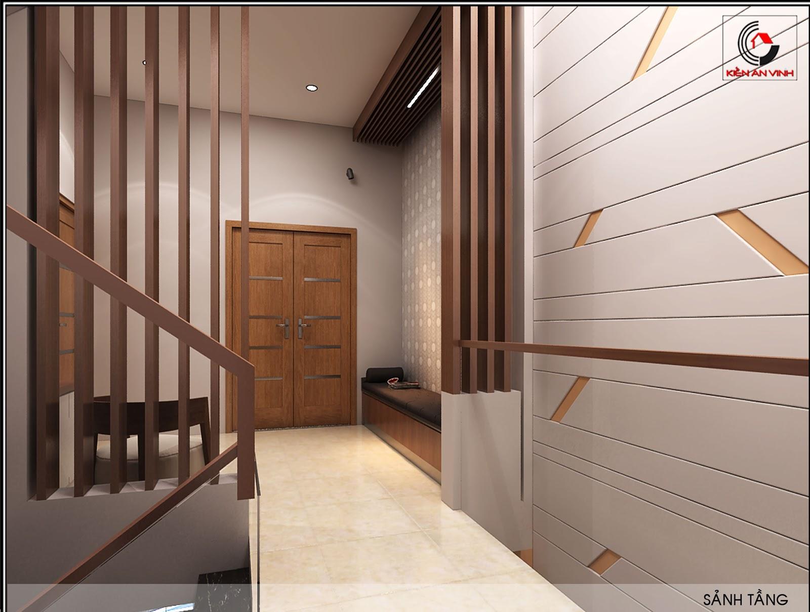 Mẫu thiết kế nhà ống 2 tầng diện tích 4x14 ở quê gia đình chị Lan Sanh-phong1