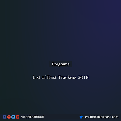 List of Best Trackers 2018