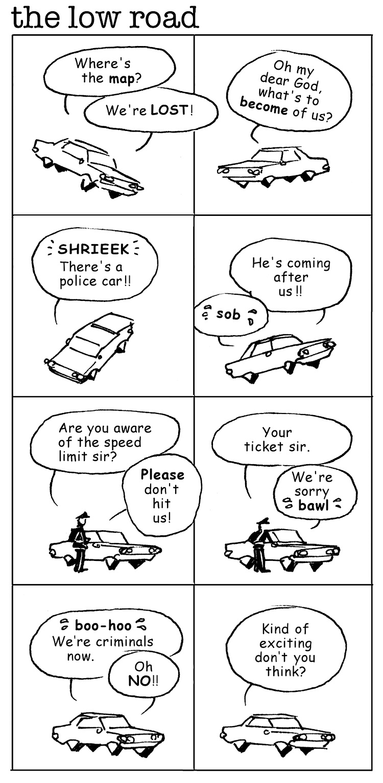 Gerry Lagendyk cartoon about lost drivers