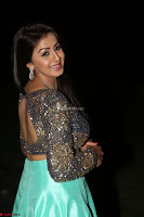 Nikki Galrani in Green Skirt  Top at Marakathamani music launch ~  Exclusive (119).JPG