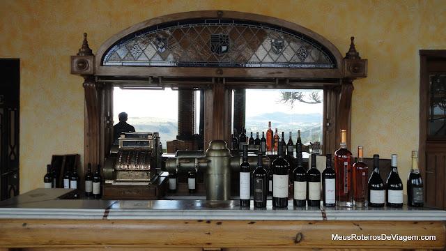 Bar da vinícola Villa Francioni - São Joaquim/SC