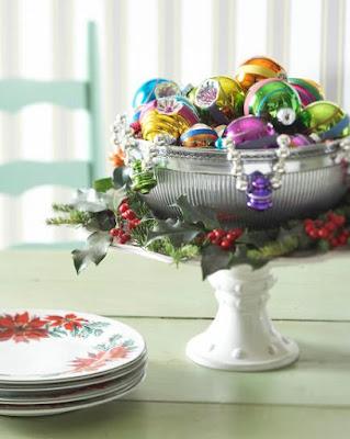 piece maitresse pour decoration table de noel