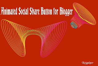 Animated Social Share Button for Blogger