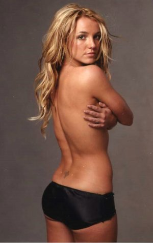 Britney Spears Naked, Hiding - The Hollywood Gossip