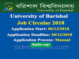 University of Barishal Job Circular 2018