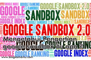 Mengetahui Pengertian google sandbox itu apa ?