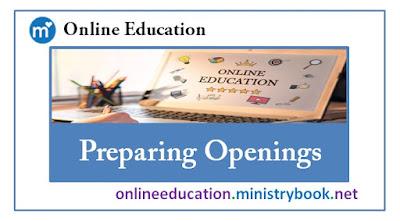 Online Education (Educator Education) Preparing Openings