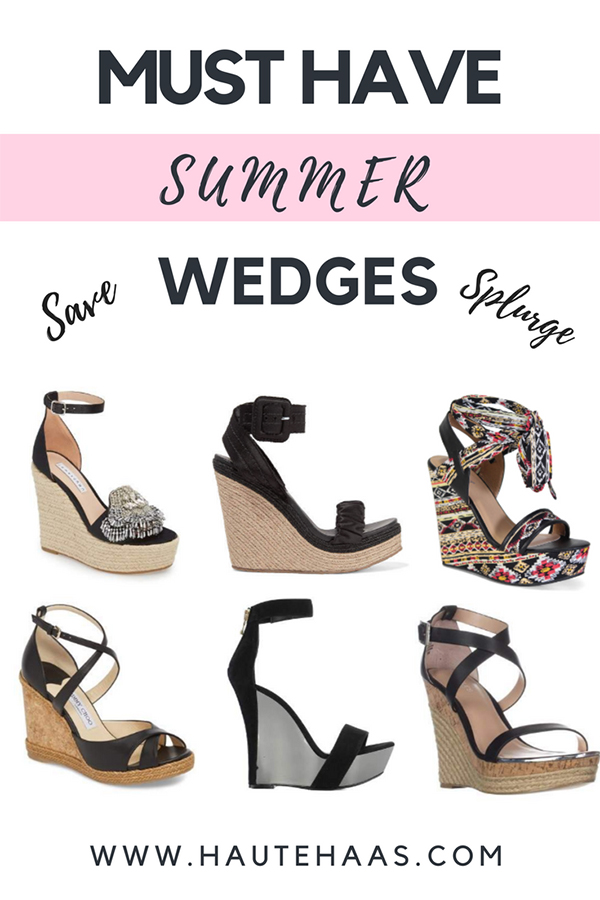 Must Have Black Summer Wedges Under $50 or Over $100 http://www.hautehaas.com/2018/05/must-have-black-summer-wedges-save-or.html