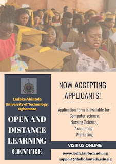 LAUTECH Open & Distance Learning Admission Form 2019/2020
