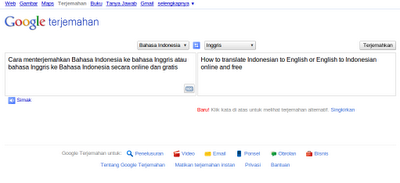 Terjemah Inggris ke Bahasa Indonesia – Cara Mudah