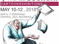 Pentas Seni SMP Negeri 17 Pamerkan Karya Kartunis dari 32 Negara