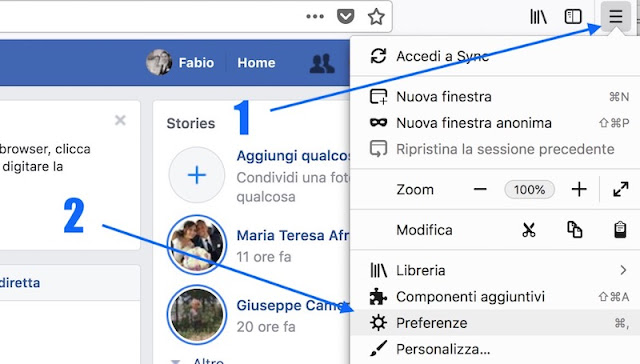 come fare per vedere la mia password di facebook con mozilla firefox