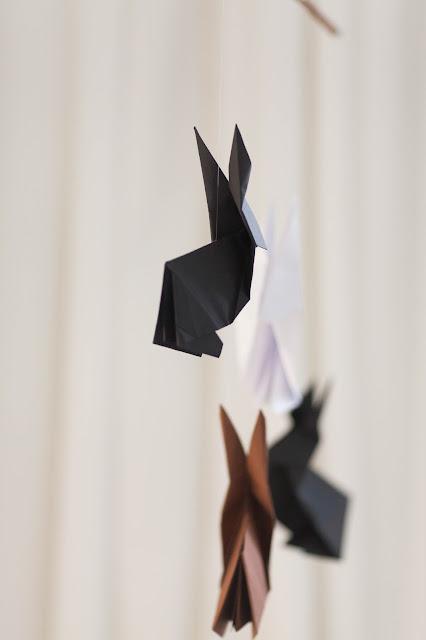 Hasen Origami Osterdeko