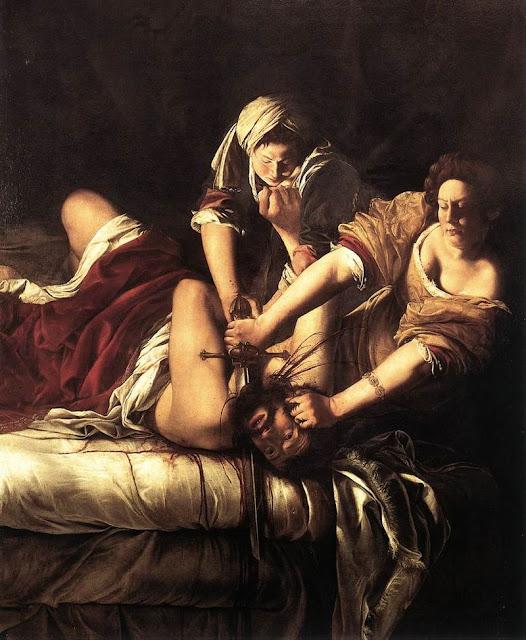 """Artemisia Gentileschi """"Judyta zabijająca Holofernesa"""""""