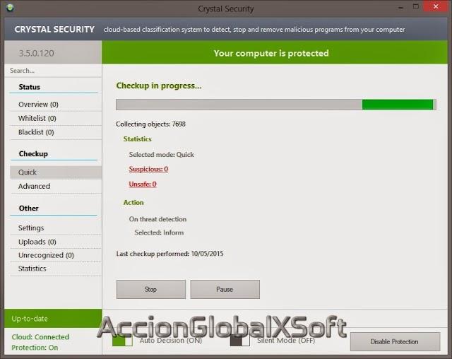 Crystal Security 3.7.0.30 + Portable | Nuevo sistema de seguridad basado en la nube que detecta y elimina programas malware