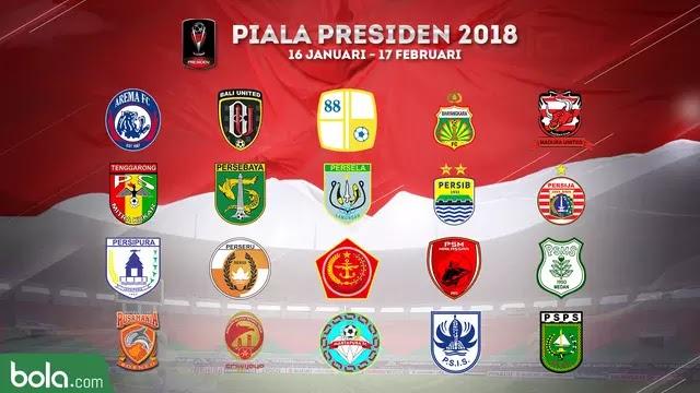 daftar peserta piala presiden 2018
