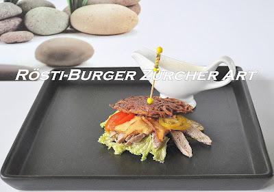 Rösti-Burger nach Züricher Art