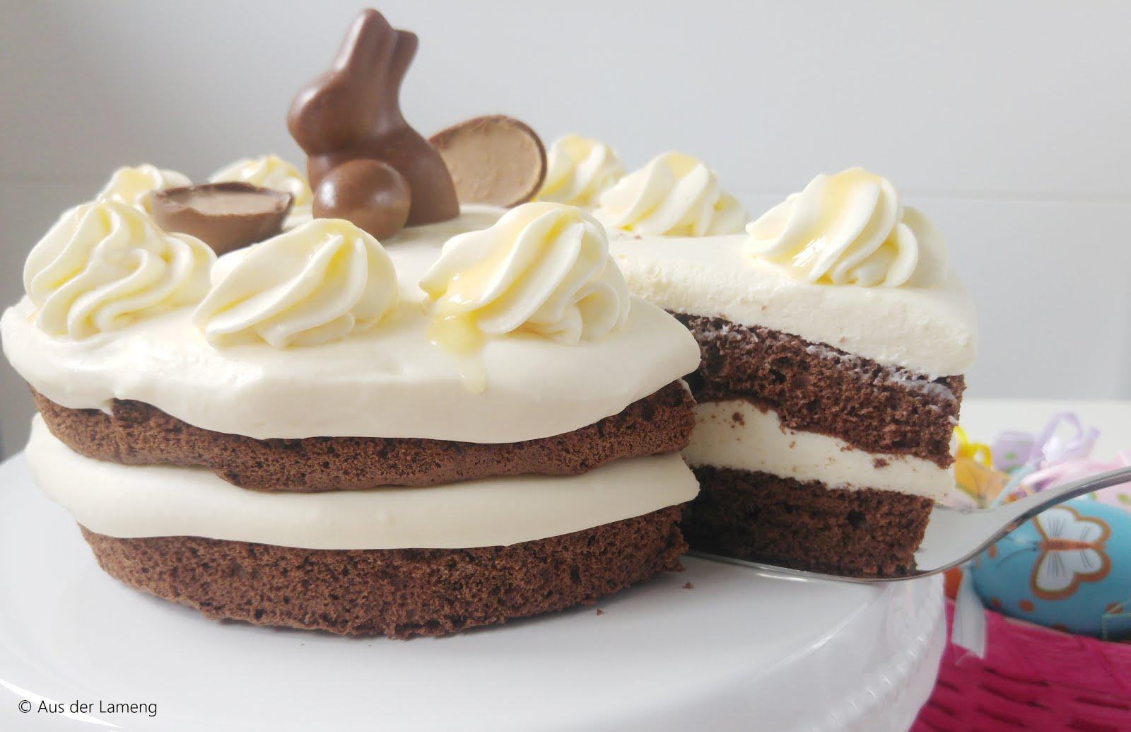 Süßer Schoko-Naked-Cake mit Eierlikör-Sahne | Gastbeitrag von Aus der Lameng | Osterkooperation mit Gewinnspiel | Sugarprincess 2019