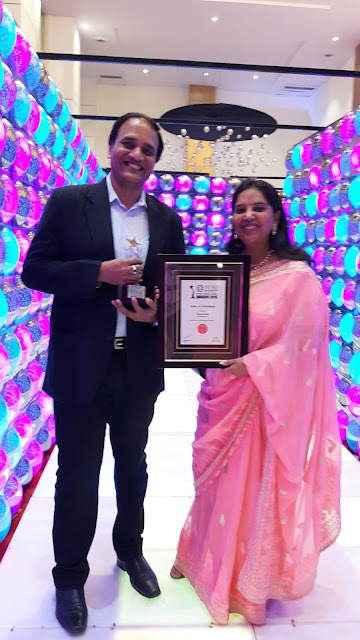 Ms. Mukta Kumar Director Communications Konnections and Mr. Anurag Kumar Director Operations Konnections recieving the award TCEI