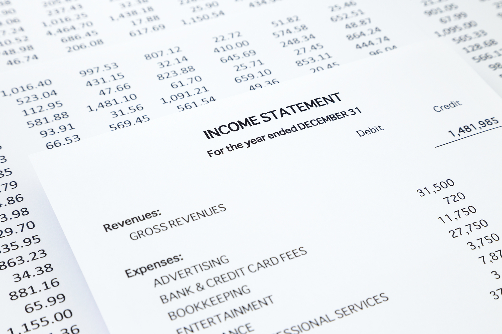 Income Statement And Balance Sheet Template ...