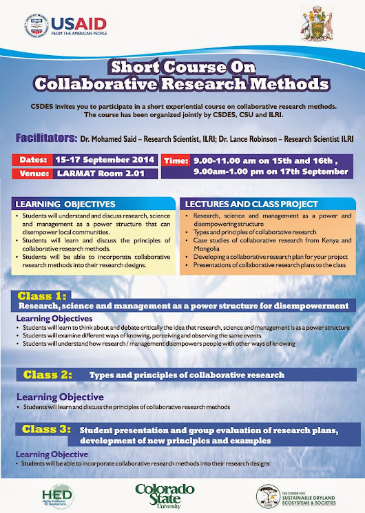 Short Course on Collaborative Research Methods