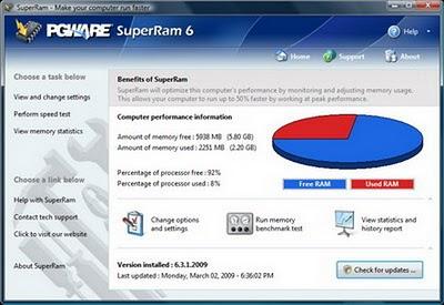 تنزيل برنامج PGWare SuperRam 6 مجانا , تحميل برنامج تسريع الرام RAM مجانا , تنزيل برنامج تسريع الرام RAM
