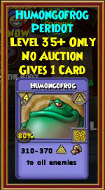 Humongofrog - Wizard101 Card-Giving Jewel Guide