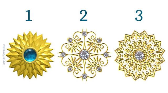 Выберите одну золотую мандалу, чтобы получить сообщение от своего высшего «Я»