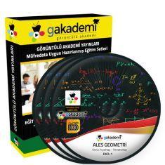 Görüntülü ALES Geometri Çözümlü Soru Bankası Eğitim Seti 16 DVD