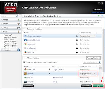 Cara Mengubah Pengaturan Power Saving ke High Performance di AMD Catalyst Control