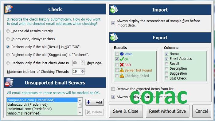 Tùy chọn lọc email