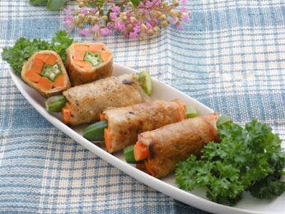 Làm thịt heo cuộn rau củ lạ miệng và ngon không cưỡng nổi